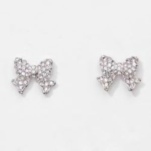 Bow Pave Earrings